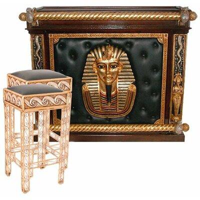 Egyptian Bar Set with Wine Storage by Design Toscano