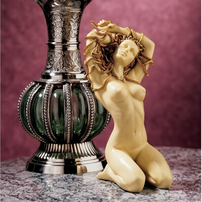 Design Toscano The Temptation of Medusa Figurine in Faux Ivory and Gold
