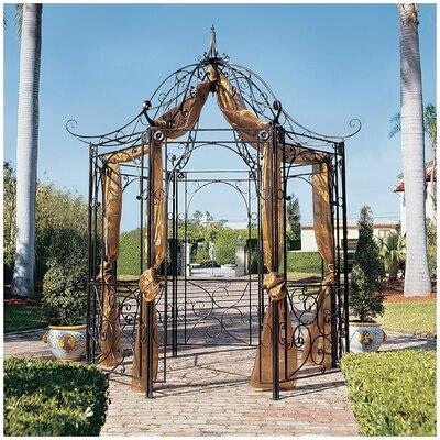 Design Toscano Amelie Garden 8 Ft. W x 8 Ft. D Steel Pergola