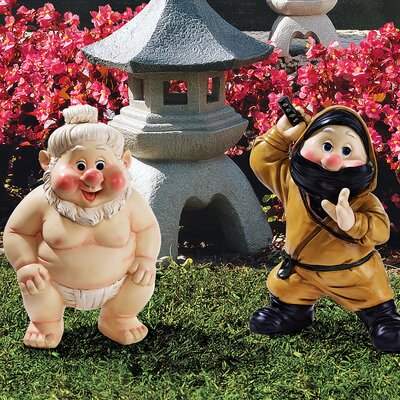 Design Toscano Far East Gnome Statue Set Statue