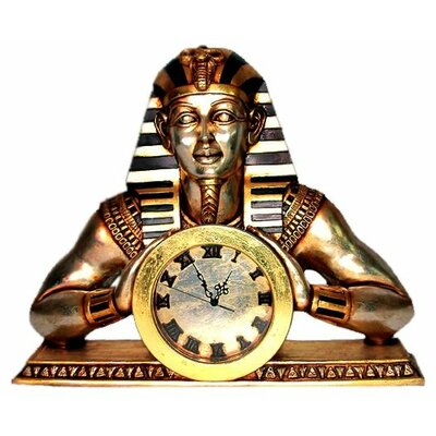 Egyptian Temple of Heliopolis Mantle Clock Statue by Design Toscano