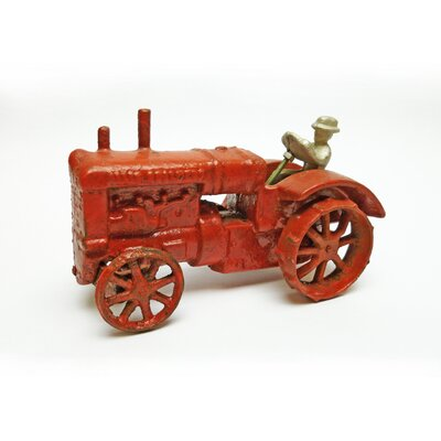 Design Toscano Allis Chalmers Replica Cast Iron Farm Toy Tractor Sculpture