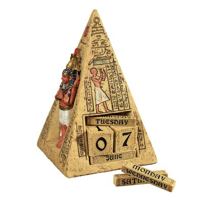 Egyptian Icons Perpetual Calendar Statue by Design Toscano