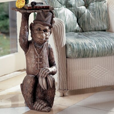 Design toscano moroccan monkey butler sculptural end table ng31382
