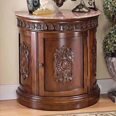 Design Toscano Grand Medallion Crescent Console Table