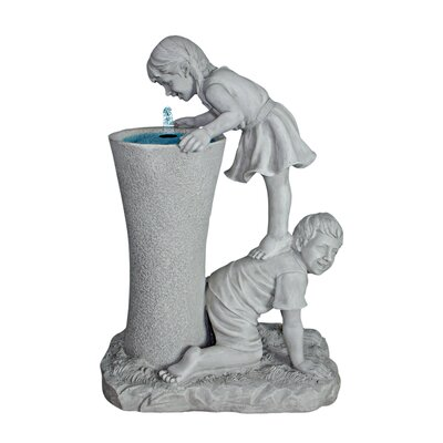 Get a Leg Up Girl and Boy Sculptural Fountain by Design Toscano