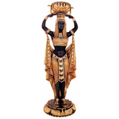Cleopatra's Egyptian Nubian Maiden Scale Statue by Design Toscano