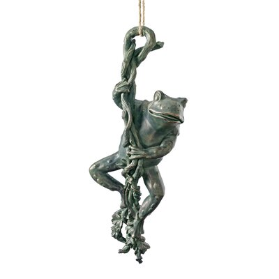 The Daring, Dangling Frog Statue by Design Toscano