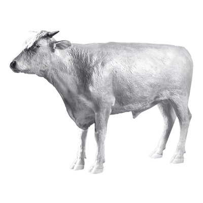 The Grand - Scale Wildlife Animal Unpainted Hereford Steer Statue by Design Toscano