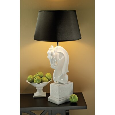 """Design Toscano Knightly Horse Bust 32"""" H Table Lamp with Empire Shade"""