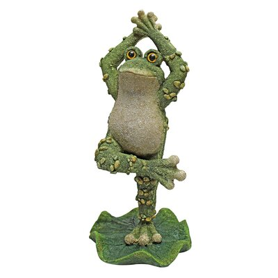 Boogie Down, Dancing Frog Hands Up Statue by Design Toscano