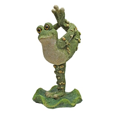 Boogie Down, Dancing Frog Leg Up Statue by Design Toscano