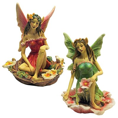 Design Toscano Fairy of Acorn Hollow with Flower Statue