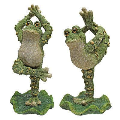 Boogie Down, Dancing Frog Statue by Design Toscano