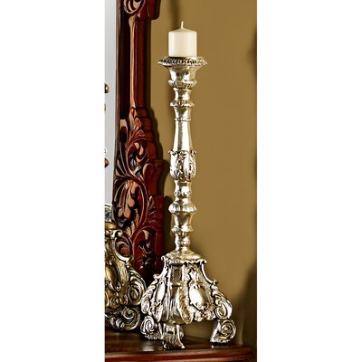 Design Toscano European Scroll - Footed Candlestick