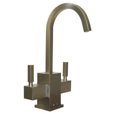Whitehaus Collection Forever Hot Q-Haus Two Handle Single Hole Kitchen Faucet