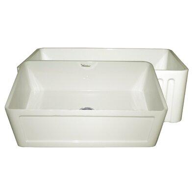"""Whitehaus Collection Farmhaus 30"""" x 18"""" Single Bowl Farmhouse Kitchen Sink"""