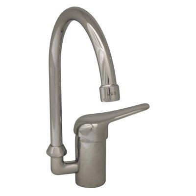 Whitehaus Collection Flamingo II One Handle Single Hole Kitchen Faucet with Gooseneck Swivel Spout
