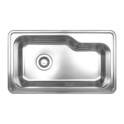 Noah's Single Bowl Drop-in Kitchen Sink by Whitehaus Collection