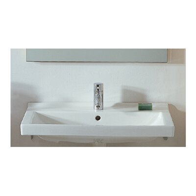China Rectangular Wall-Mount Bathroom Sink Product Photo