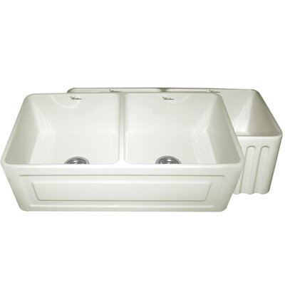 """Reversible 33"""" x 18"""" Fireclay Kitchen Sink Product Photo"""