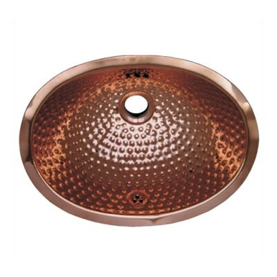 Decorative Undermount Oval Ball Pein Bathroom Sink by Whitehaus Collection