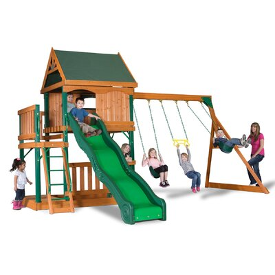 Montego Bay All Cedar Swing Set Product Photo