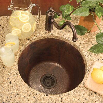 "17.75"" x 17.75"" Redondo Grande Hand Hammered Bar Sink Product Photo"