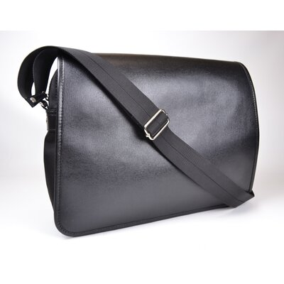 Saffiano Genuine Leather Laptop Messenger Bag by Royce Leather