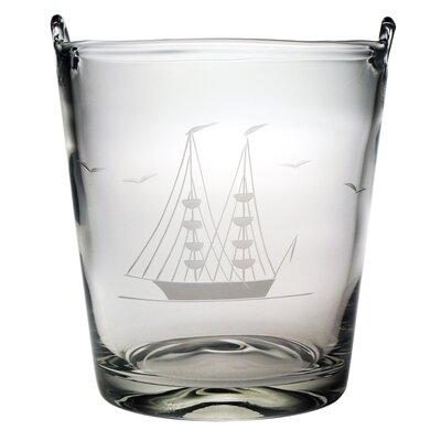 "Susquehanna Glass Clipper Ship Individual 8"" Ice Bucket Hand Cut Pattern"
