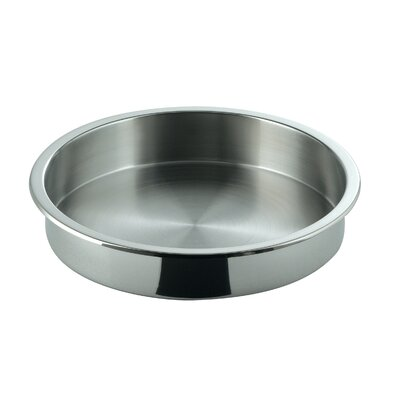 Large Round Full Size Stainless Steel Food Pan by SMART Buffet Ware