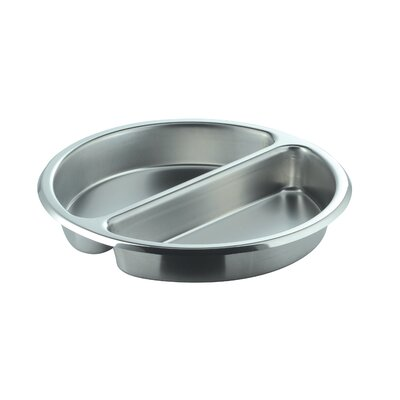 Divided Medium Round Stainless Steel Food Pan by SMART Buffet Ware
