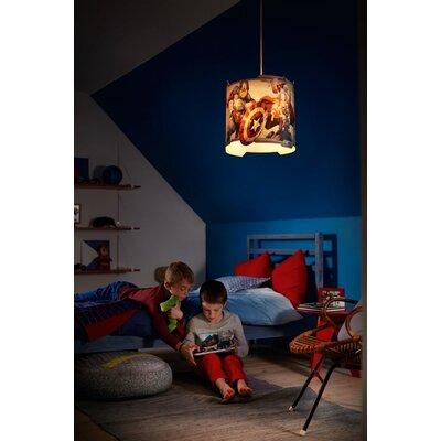 Comavengers Kids Room : Kids Room Marvel Avengers 1 Light Childrens Ceiling Pendant  Wayfair ...