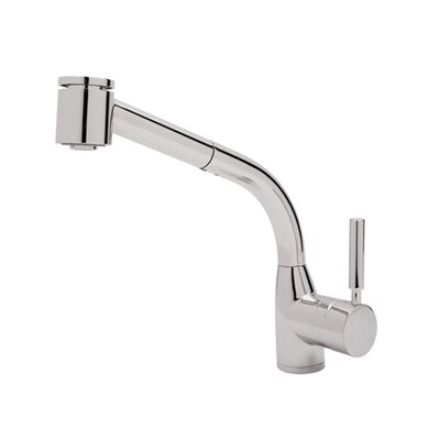 Pullout Modern Lux One Handle Single Hole Side Kitchen Faucet with Lever Handle by Rohl ...