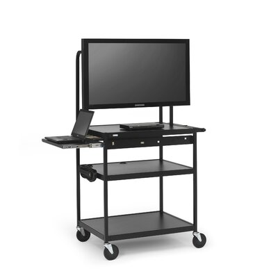 Bretford Manufacturing Inc AV Cart with Laptop Shelf for Flat Panels