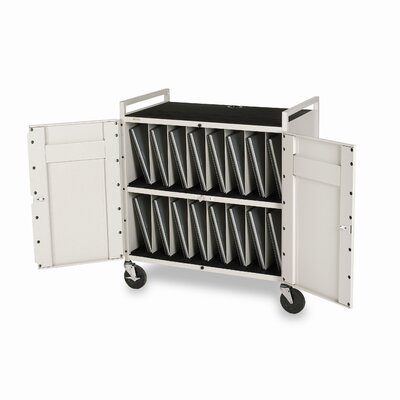 Bretford Manufacturing Inc 15-Compartment Laptop Storage Cart