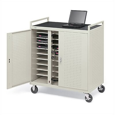 Bretford Manufacturing Inc 30-Compartment Laptop Storage Cart