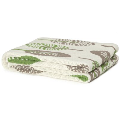 In2Green Eco Designer Mod Leaf Cotton Throw Blanket
