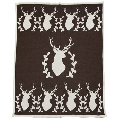 Eco Designer Stag with Vine Throw Blanket by In2Green