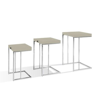 Modrest A and X Amelia 3 Piece Nesting Tables by VIG Furniture