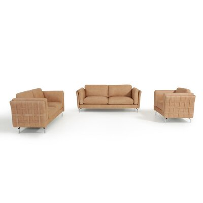 Divani Casa 3 Piece Leather Sofa Set by VIG Furniture