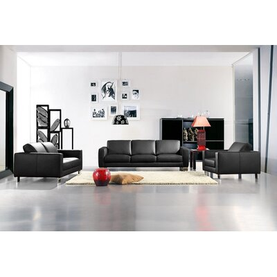Divani Casa Leather Sofa Set by VIG Furniture