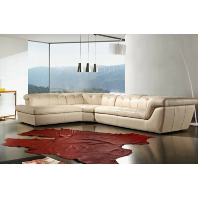 Divani Casa Refata Leather Sectional by VIG Furniture
