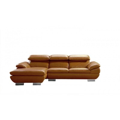 Divani Casa Camel Leather Sectional by VIG Furniture