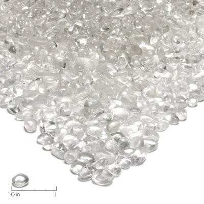 Real Flame Ice Clear Fire Glass Filler