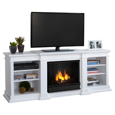 Real Flame Fresno TV Stand with Gel Fuel Fireplace