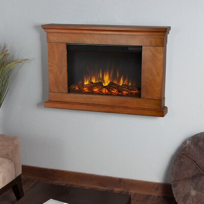 Slim Jackson Wall Mounted Electric Fireplace by Real Flame