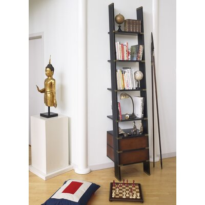 """Authentic Models Library 96.6"""" Leaning Bookcase"""