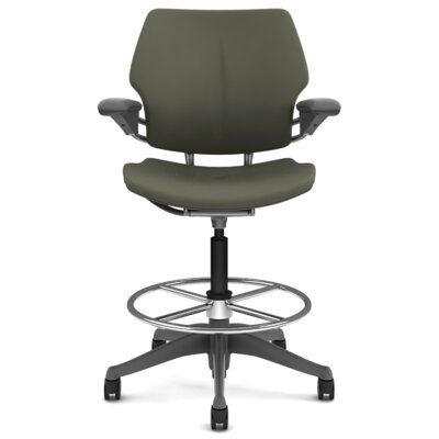 Freedom Height-Adjustable Drafting Chair with Footring by Humanscale
