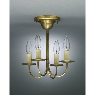 4 Light Candelabra Chandelier by Northeast Lantern
